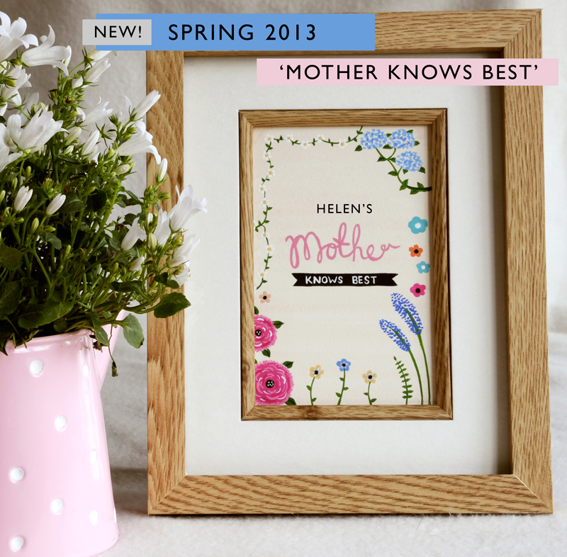 'mother knows best' PERSONALISED Print