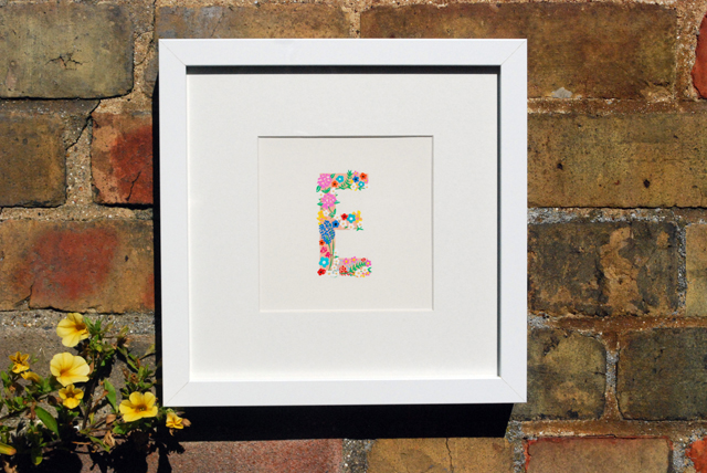 From the illustrated Alphabet hand-painted letter E