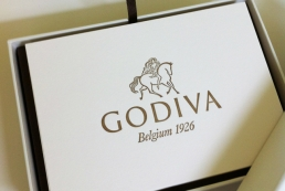 Letterpress stationery for Godiva